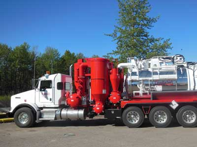 Our large fleet of vacuum trucks includes trailer, tandem, tri-axle and single axle units.